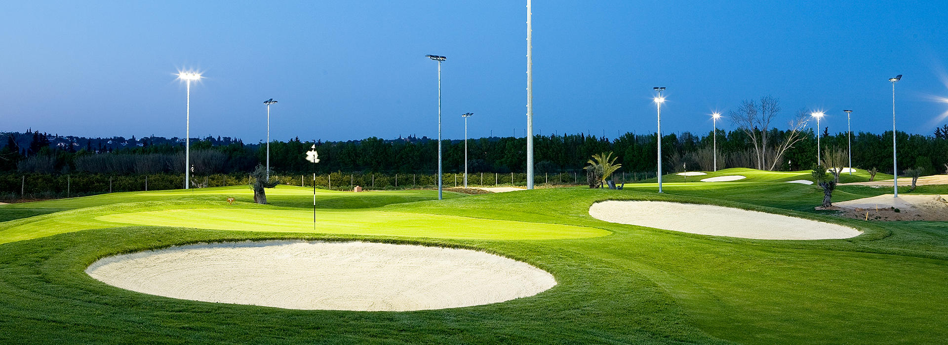 Golf Academy by night
