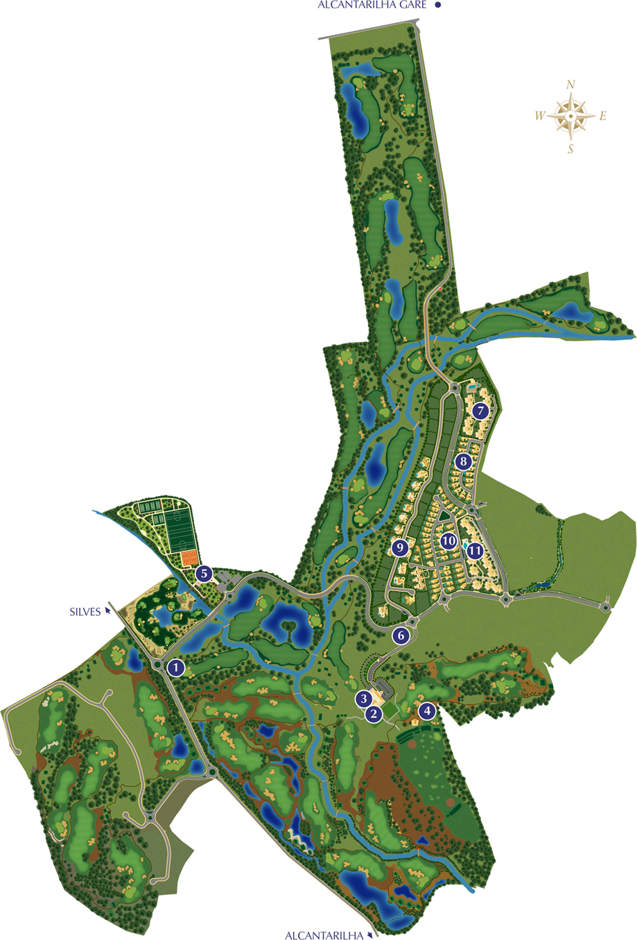 Amendoeira Golf Resort - Resort map